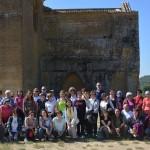 Visita de Apudepa a la Hoya de Huesca. Pintura mural del gótico lineal. Crónica de Ángel Tomás