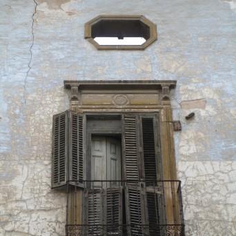 Detalle de un balcón del palacio