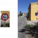 La plaza de Chodes en peligro: retirada de señalización de limitación de altura